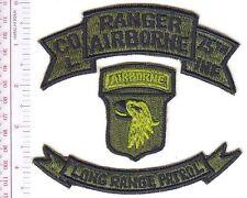 Airborne US Army Rangers Vietnam 101st Division Long Range RECON Patrol L Co ACU