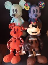 Lot of 4 NWT April+May+June+July Disney Store Mickey Mouse Plush Memories LR