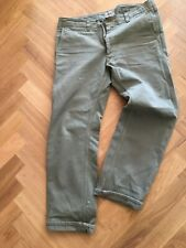 REAL MCCOY PHERROWS HBT TWILL KHAKI TROUSERS Made in japan size 34