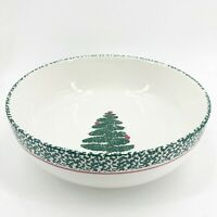 "Furio Serving Bowl 10"" Christmas Tree Italian Bowl Made in Italy Holidays Dining"