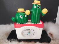 Vintage Rhythm Dancing Cactus Alarm Clock Hey Mambo! from Japan