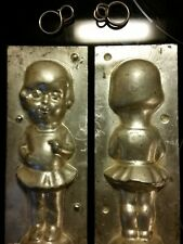 GIRL IN SKIRT MADCHEN LADY DUTCH CHOCOLATE MOLD VINTAGE ANTIQUE