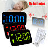 Large LED Digital Alarm Clock USB/Battery Operated Sound Control Time Display