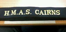 HMAS CAIRNS Cap Tally Cap Ribbon ROYAL AUSTRALIAN NAVY