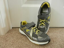 BNIB Clarks Boys Active Air Compete Silver & Yellow Mesh Trainers Lights 12.5 F