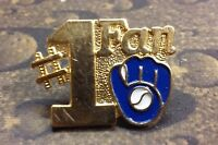 Milwaukee Brewers #1 Fan pin badge MLB collector