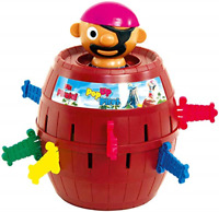 TOMY Pop Up Pirate Classic Children's Action Board Game, Family & Preschool Kids