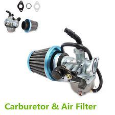 19mm Motorcycle Dirt Bike Go Kart Carburetor & Air Filter With Right Hand Choke