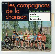COMPAGNONS CHANSON Vinyle 45T EP MARIN - NAVARONE Cyclistes Vélo - COLUMBIA 1329