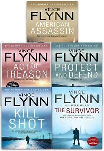 Mitch Rapp Series Vince Flynn 5 Books Collection Set Kill Shot The Survivor