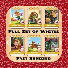 Coin Master Full Vintage Toys Set - (x6 White Cards) (Fast Sending)