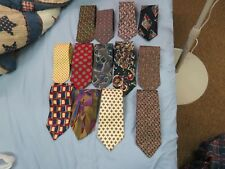 Lot of 13 gently used 100% silk neck ties, various brands
