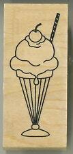 Great Impressions / Vicki Schreiner -  Rubber Stamp - Ice Cream Sundae - E539