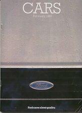 Ford Cars 1985 Feb Original UK Brochure Fiesta Escort Orion Sierra Capri Granada