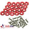 20pcs Red Billet Aluminum Fender/Bumper Washer/Bolt Engine Bay Dress Up Kit