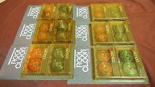 Vintage, Reel Cleer, New Cassette Tape Lot, Green Red Reel To Reel TwoPacks, 12