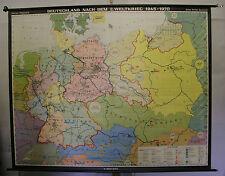 Schulwandkarte Wandkarte BRD DDR Deutsches Reich nach Krieg 1945 240x192cm 1970