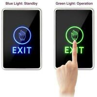 Touch Exit Button Infrared Sensor Door Switch LED Lamp for Access Control System