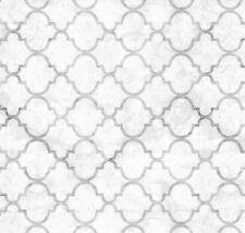 Gray Quatrefoil Lattice Geometric Vinyl Contact Paper Shelf Liner Peel Stick