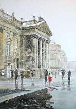 """Original Alan Reed Acuarela """"Teatro Real de la nieve"""" Newcastle Pintura"""