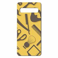 For Samsung Galaxy S10 PLUS Silicone Case Hipster Barber Grooming - S1163
