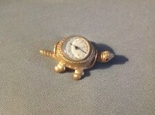Rare Old Antique French Gold Vermei Turtle Thermometer Scarce Design~Florenza A1