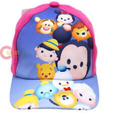 Disney Tsum Tsum Kids Baseball Hat Adjustable Cap Mickey Minnie Pooh Tigger