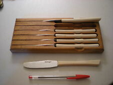 Vintage Cattaraugus 6 Piece Cheese Knife set