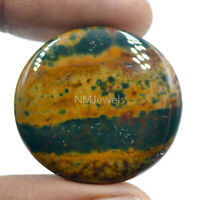 Cts. 46.70 Natural Designer Bloodstone Cabochon Near Round Cab Loose Gemstone