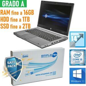 """Laptop Notebook HP Elitebook 8470P I5 3210M 14 """" Dvd-Rw Windows 10 Pro"""