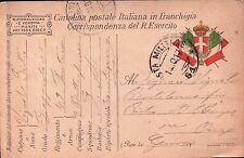 1917 FRANCHIGIA 49° FANTERIA BRIGATA PARMA - GENIO ZAPPATORI P.M. 61 C8-333