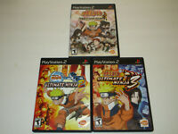 Naruto Ultimate Ninja  1, 2 & 3   PS2 In Very Good  Condition Black Label Set