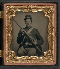 American Civil War Union Soldier North 1864 USA 6x5 Inch Reprint Photo