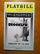 Jason Danieley (only) Signed Encores! New Playbill A Tree Grows in Brooklyn 2005