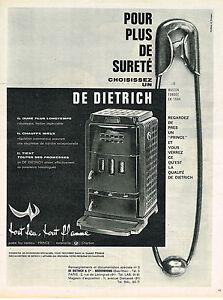 PUBLICITE ADVERTISING  1963   DE DIETRICH   poele feu continu