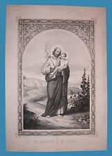 San Giuseppe - S. Joseph - S. Josè Pintard Litografia '800