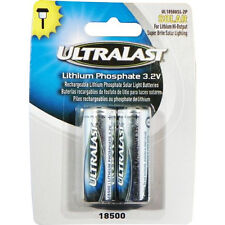 ULTRALAST UL18500SL-2P Rechargeable Batteries for 3.2 V Outdoor Solar Lighting