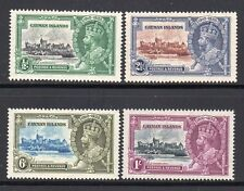 1935 Cayman Islands KGV Jubilee SC 81-84 | SG 108-111 MH Mint, Print Flaw Error