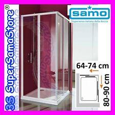 3S BOX PARETI DOCCIA SAMO CIAO in CRISTALLO per PIATTO RETTANGOLARE 70x90 cm