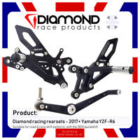 DIAMOND RACE PRODUCTS - YAMAHA R6 '17-'19 2017-2019 REARSET FOOTREST KIT