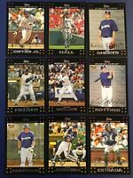 2007 Topps MILWAUKEE BREWERS Complete Team Set Series 1 & 2 (19) Cards MINT !