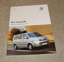Volkswagen VW Caravelle Brochure & Price List 2008 - SE & Executive 2.5 TDI
