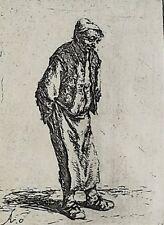 Adriaen Jansz Van Ostade Dutch 1610-1685 Etching Standing Peasant Man