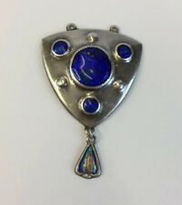 Antique 1912 Arts & Crafts Charles Horner Enamel Solid Silver Pendant