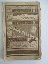 1879 VAN LOAN'S CATSKILL MOUNTAIN GUIDE with Maps & Illustrations
