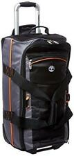 "TIMBERLAND Danvers River 24"" Wheeled Duffle Bag Luggage-Black/Steel Gray NEW"