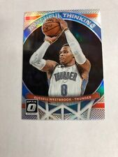 2017-18 Donruss Optic Russell Westbrook #4 Swishful Thinking Refractor Silver