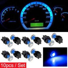 10Pcs T5 Blue Car Instrument Panel Cluster LED Dash Light Bulb W/ Twist Sockets
