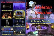 Skeleton Invasion + New Pop Up Skeletons Halloween Projection DVDs- By Jon Hyers