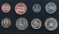 GUERNSEY 8 COINS SET 1992-2006 UNC (#245)